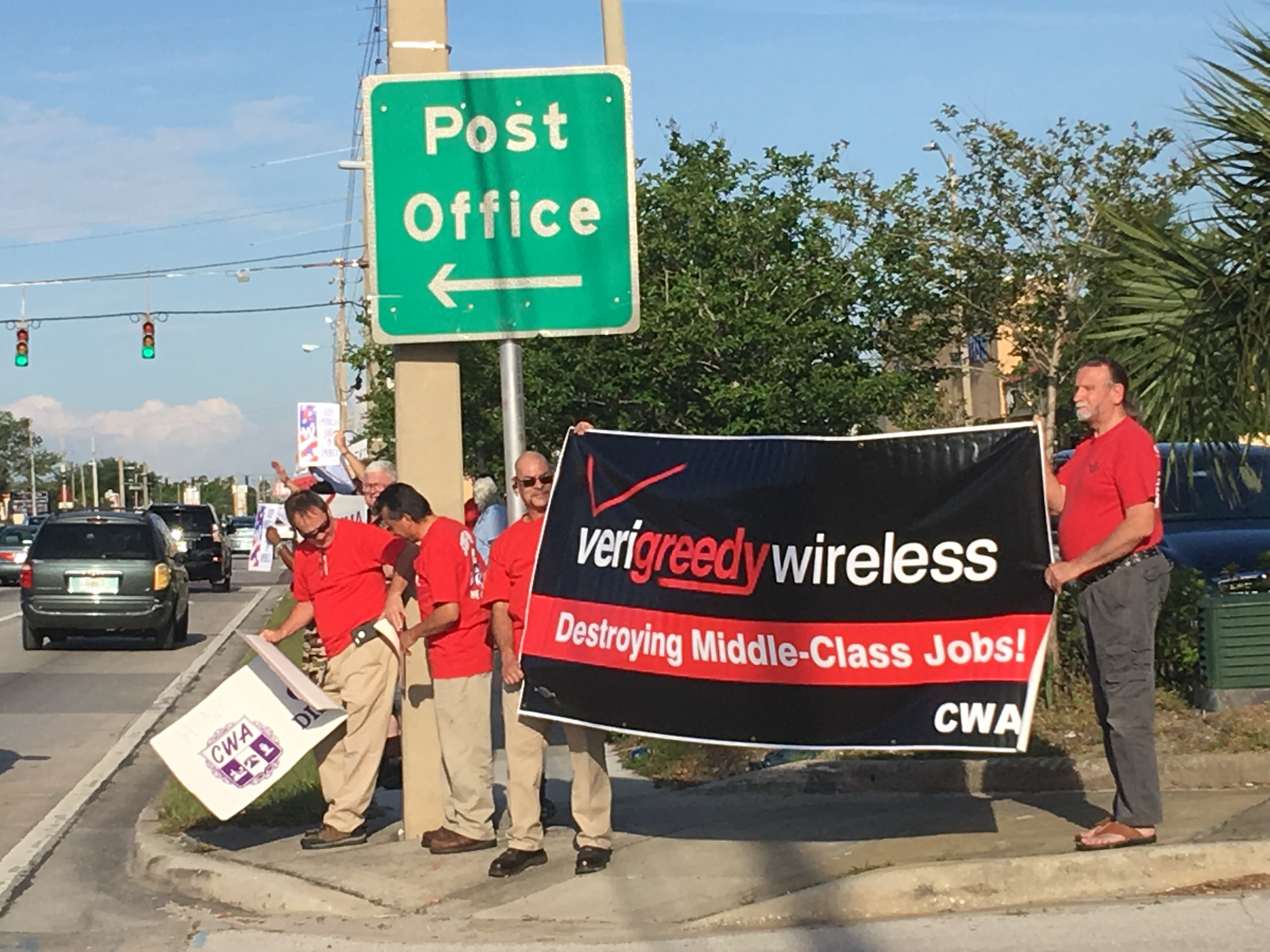 Verizon Strike Solidarity in the South