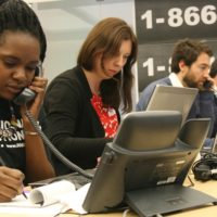 Nadine Mompremier, a Howard University law student, was one of the volunteers at the Election Protection hotline fielding thousands of calls from voters across the country who had questions or concerns about voting rules and procedures.